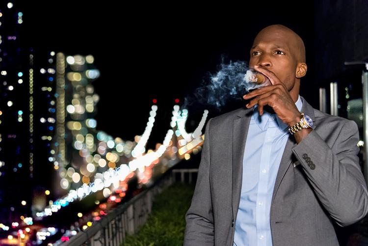 Ocho Cinco with Cigar NYC