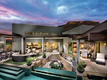 Toll Brothers_Home with Pool and Mountai
