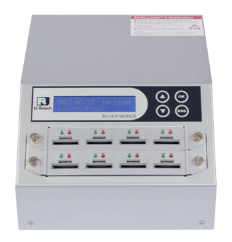 Intelligent 9 Silver Series- Combo SD/MicroSD Card Duplicator and Sanitizer