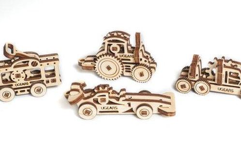 Mini Vehicles (Set of 4)