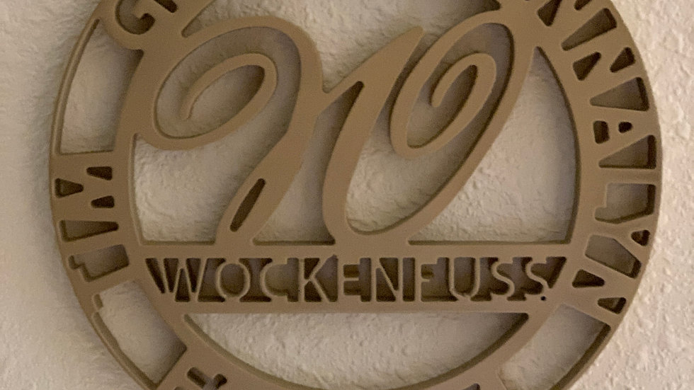 Custom Name Plaque
