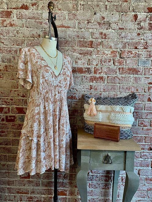 paisley rose mini dress