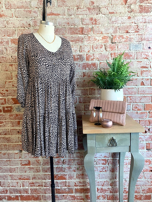 spotted babydoll dress