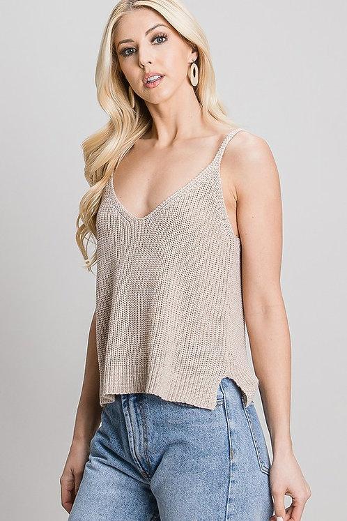 double v knit tank top