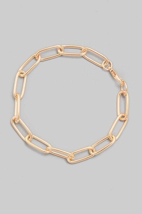 paper clip link bracelet