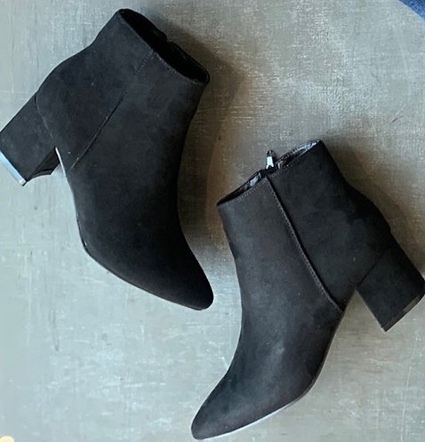 block ankle bootie
