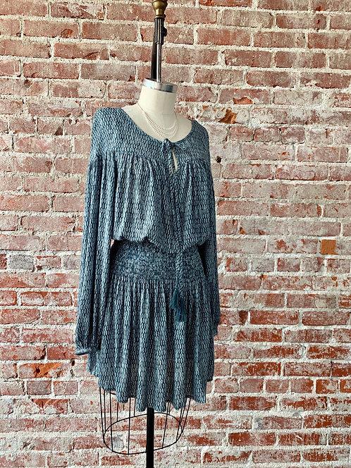 diamond smock mini dress