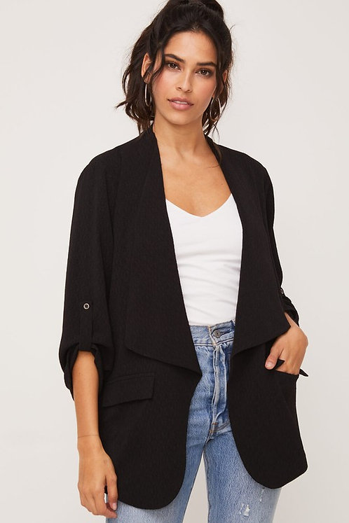 jacquard drape blazer