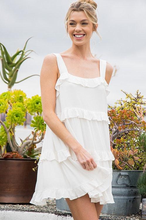ruffle tier mini dress