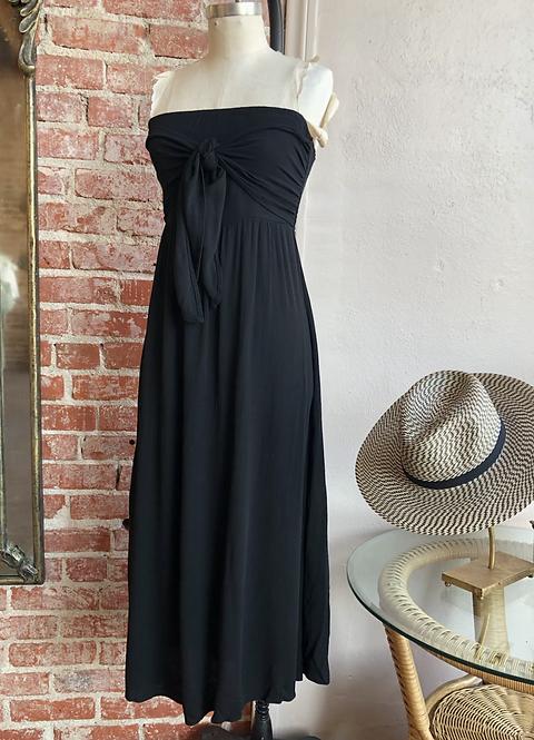 strapless smock midi dress