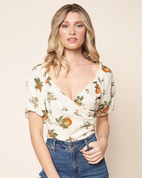 Arancia puff sleeve crop top