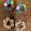 Thumbnail: Glass Flower bead earrings