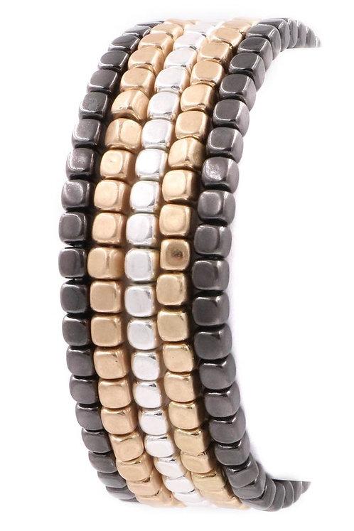 copy of two tone metal bracelet