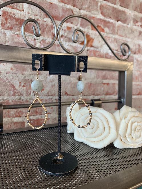 stone & bead hoops