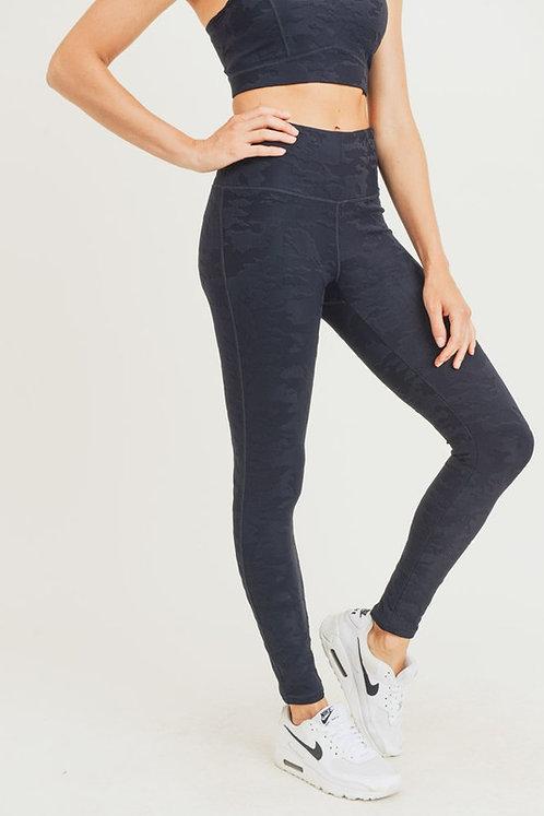 camo jacquard high waist legging
