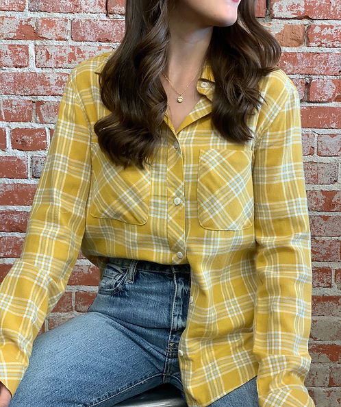 Golden plaid top