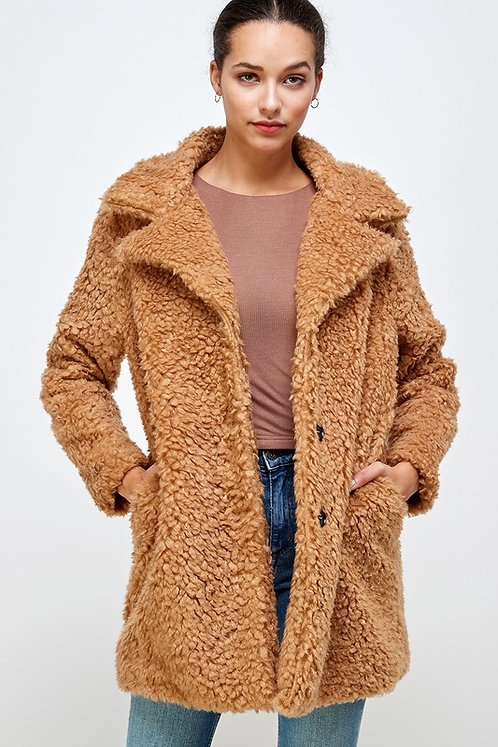 soft and fuzzy teddy coat