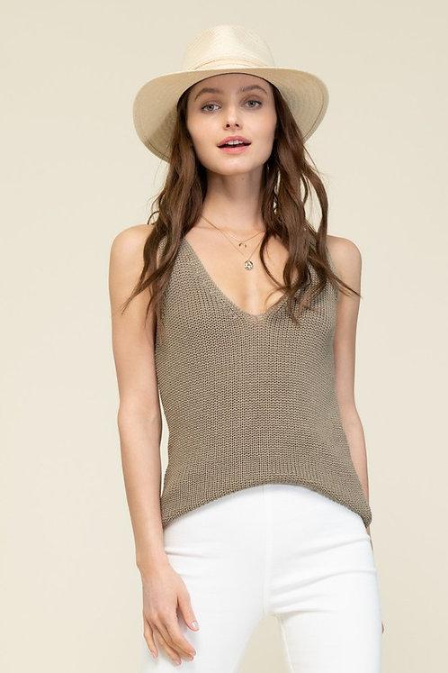 v neck sweater knit tank