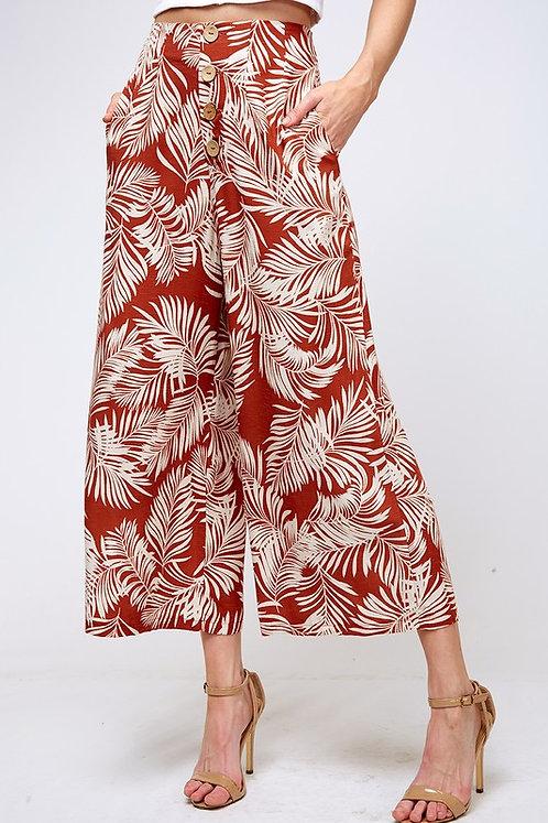 palm leaf wide leg pant