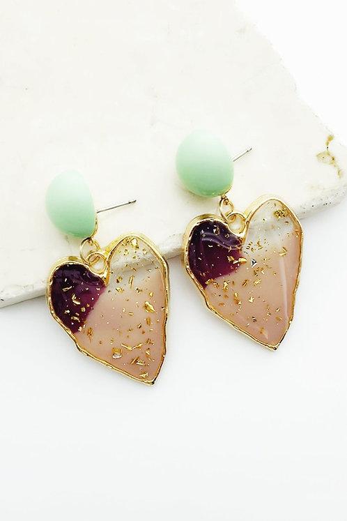 confetti heart earrings