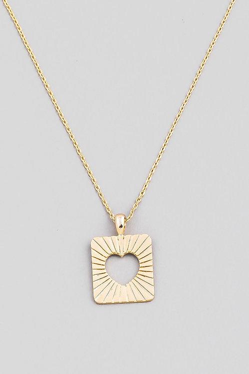 cutout heart necklace