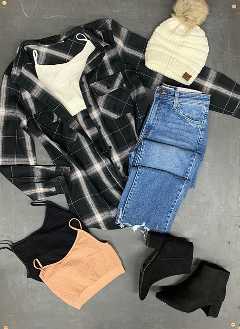 flannel plaid with pockets