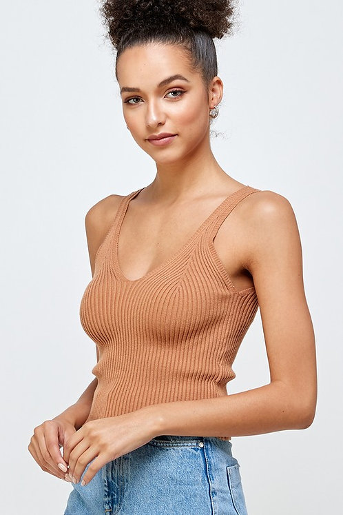 ribbed sweater tank