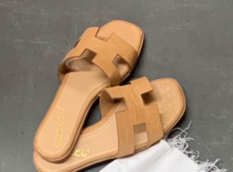 croc cutout sandal
