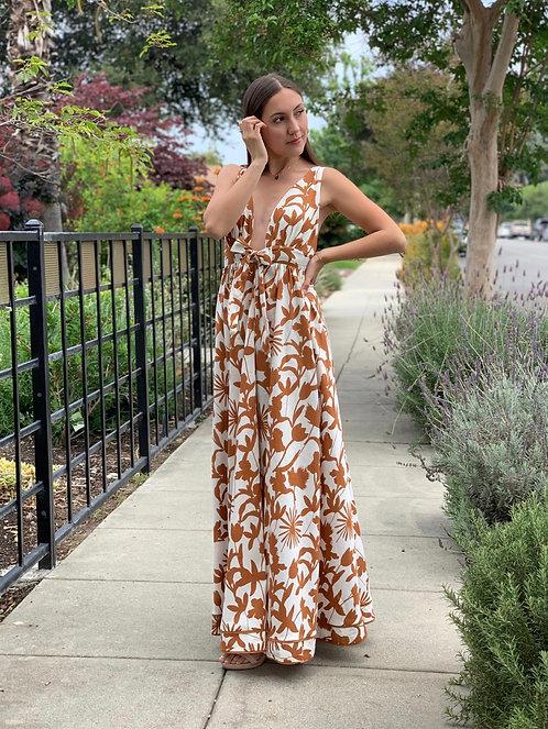 Botanical maxi dress