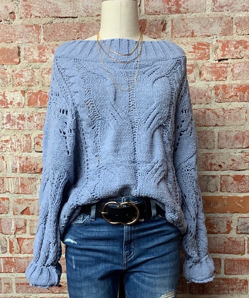 chunky knit cable sweater