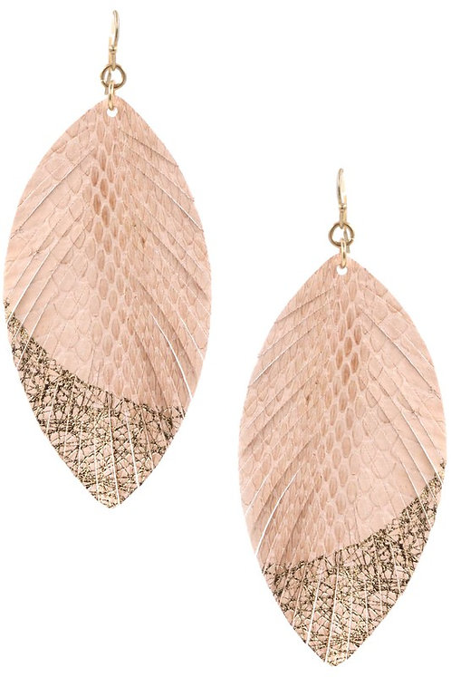faux leather snake earrings