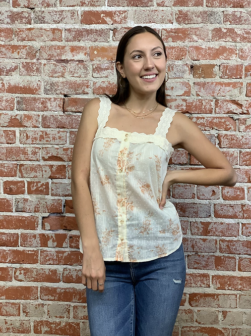 floral toile cami top