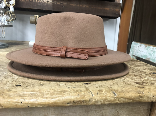 Boater hat with double straps