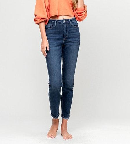 stretch mom jeans