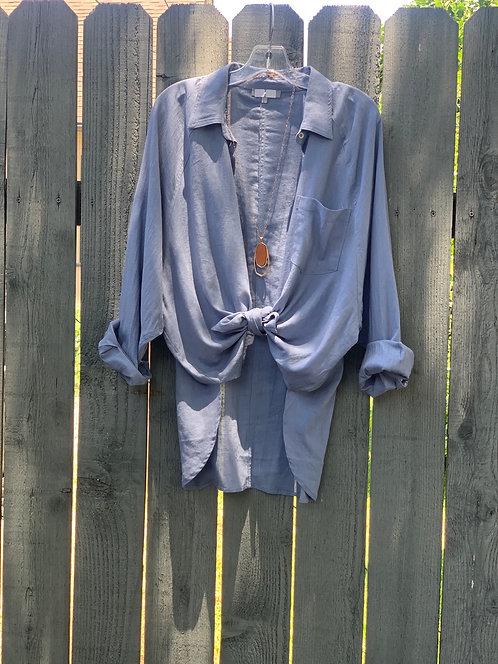 oversize one pocket shirt