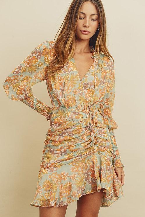 floral cinch dress