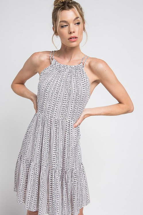 racer tier mini dress