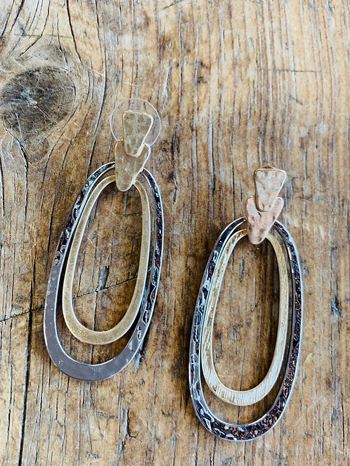 tri color oval hoops