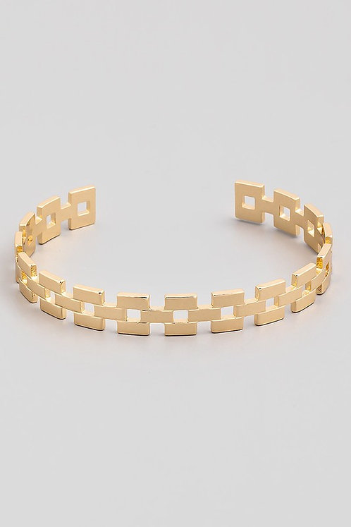 square chain cuff bracelet