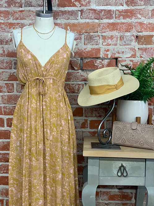 muted floral maxi dress