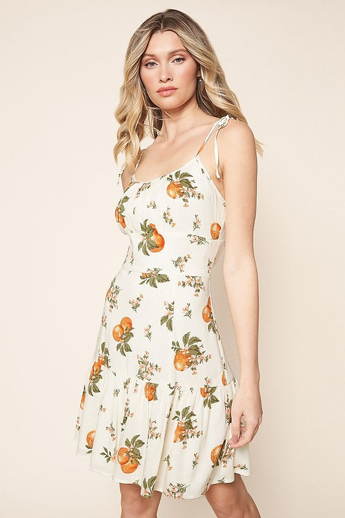 Arancia linen mini dress