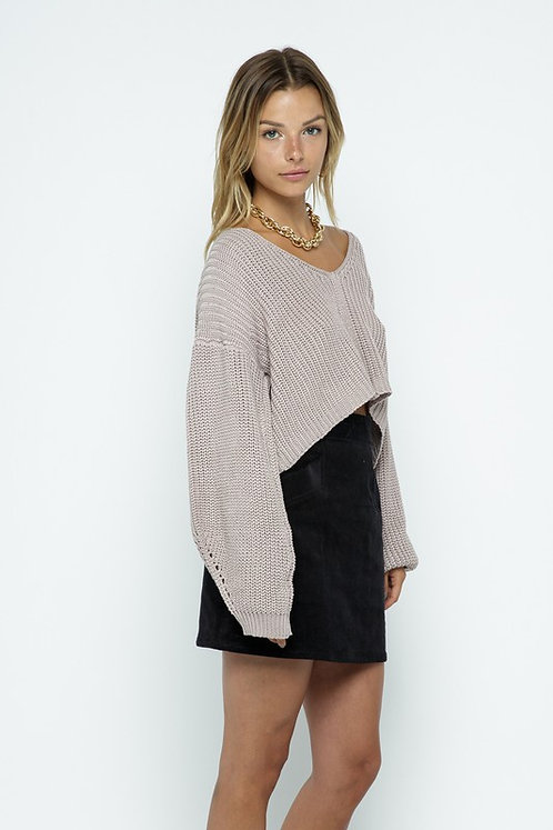 double v back strap sweater