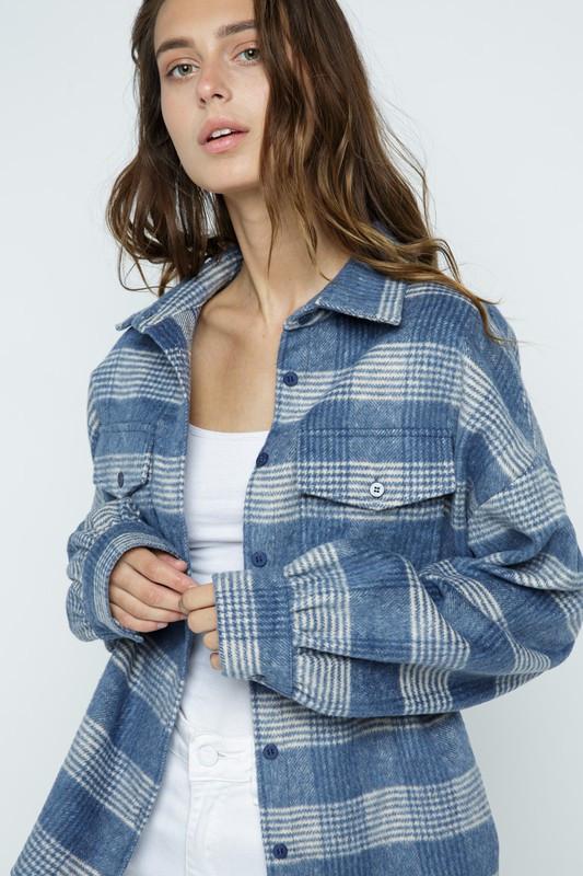tonal plaid jacket