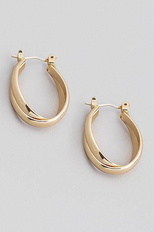 oval twist hoops