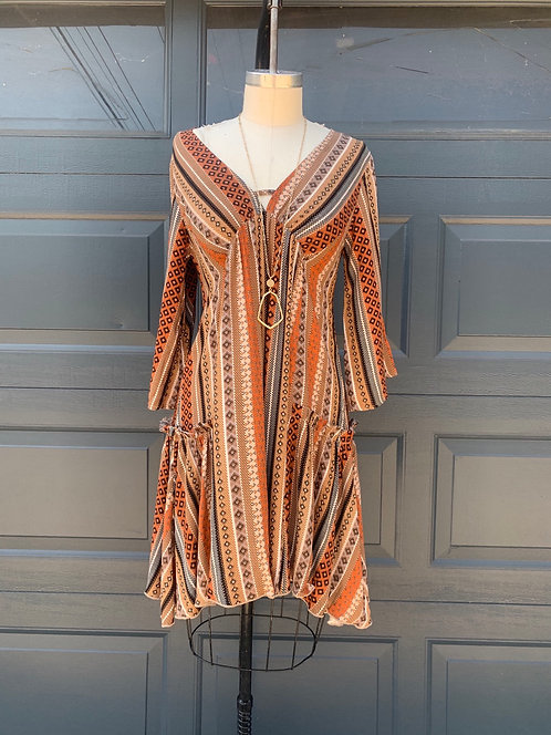 retro stripe mini dress