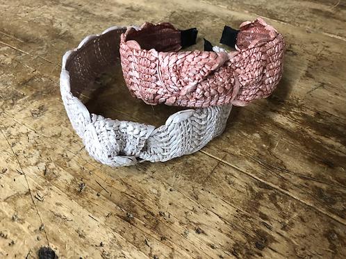Knotted wicker headband