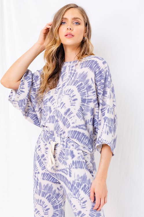 spiral dolman sleeve top