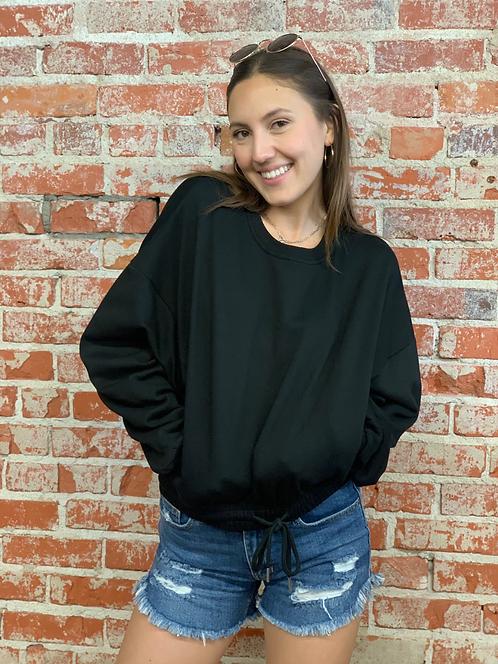 oversize terry sweatshirt