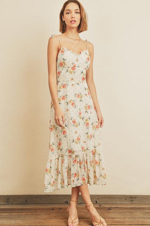 in bloom midi dress