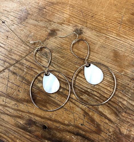 Oval disc earrings